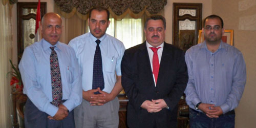The ambassador of Iraq in Beirut receives a delegation of witness