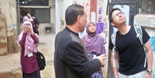 Witness - meets a youth Malaysian delegation  Supporter of the Palestinian cause